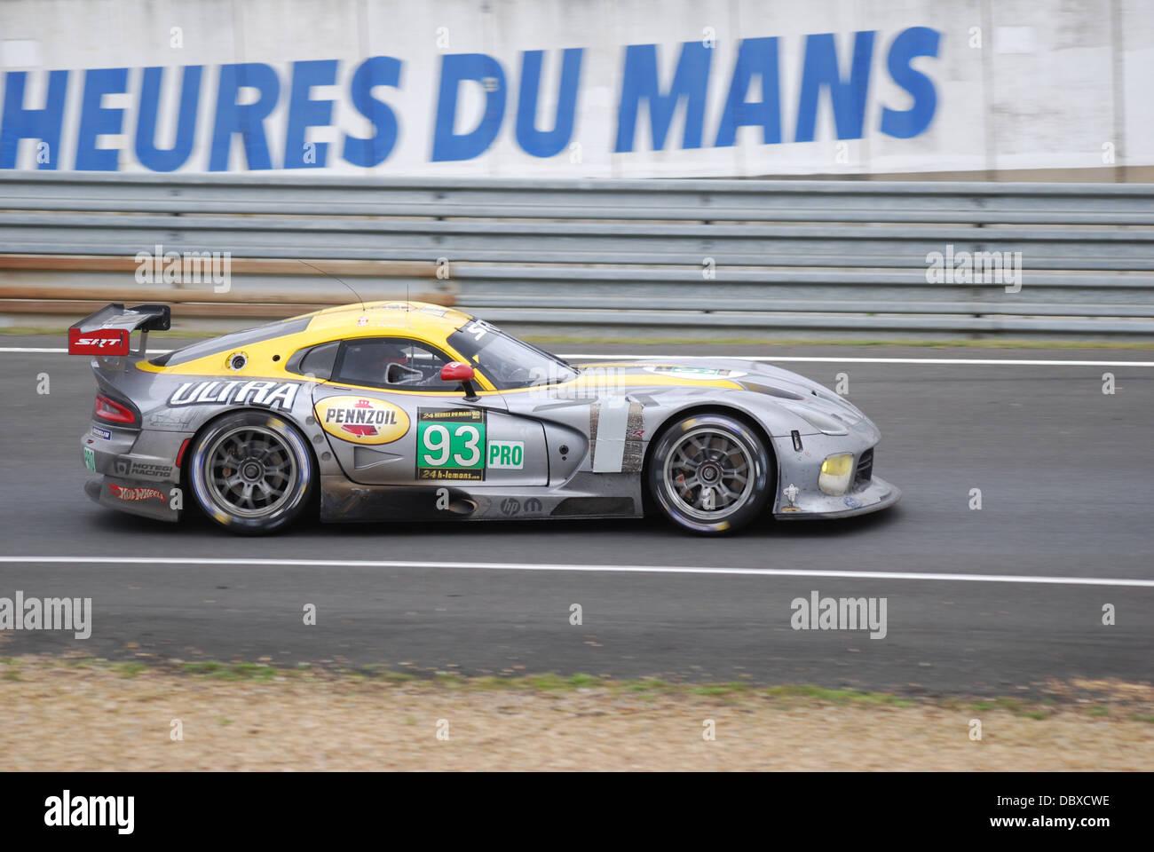 Motorsports Chrysler Dodge Viper SRT #93 von Wittmer, Bomarito & Kendall auf der 2013 24 Stunden von Le Mans Stockbild