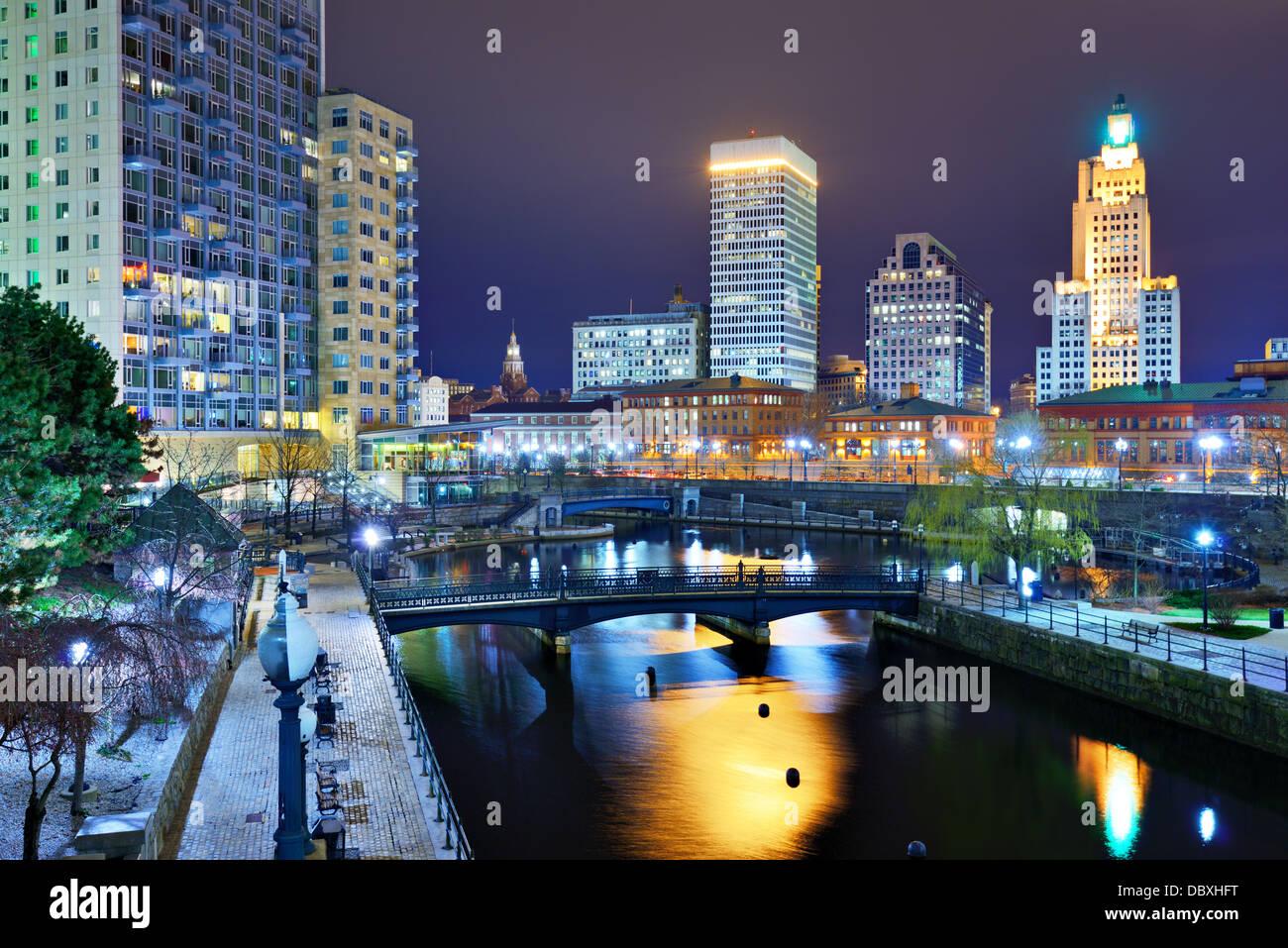 Die Innenstadt von Providence, Rhode Island, USA. Stockbild