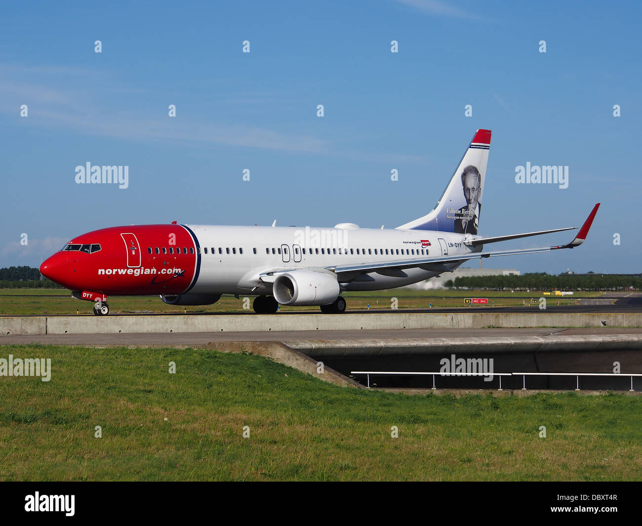 LN-DYY Norwegian Air Shuttle Boeing 737-8JP(WL) - Cn 39012 Rollzeiten 19july2013 2 Stockbild