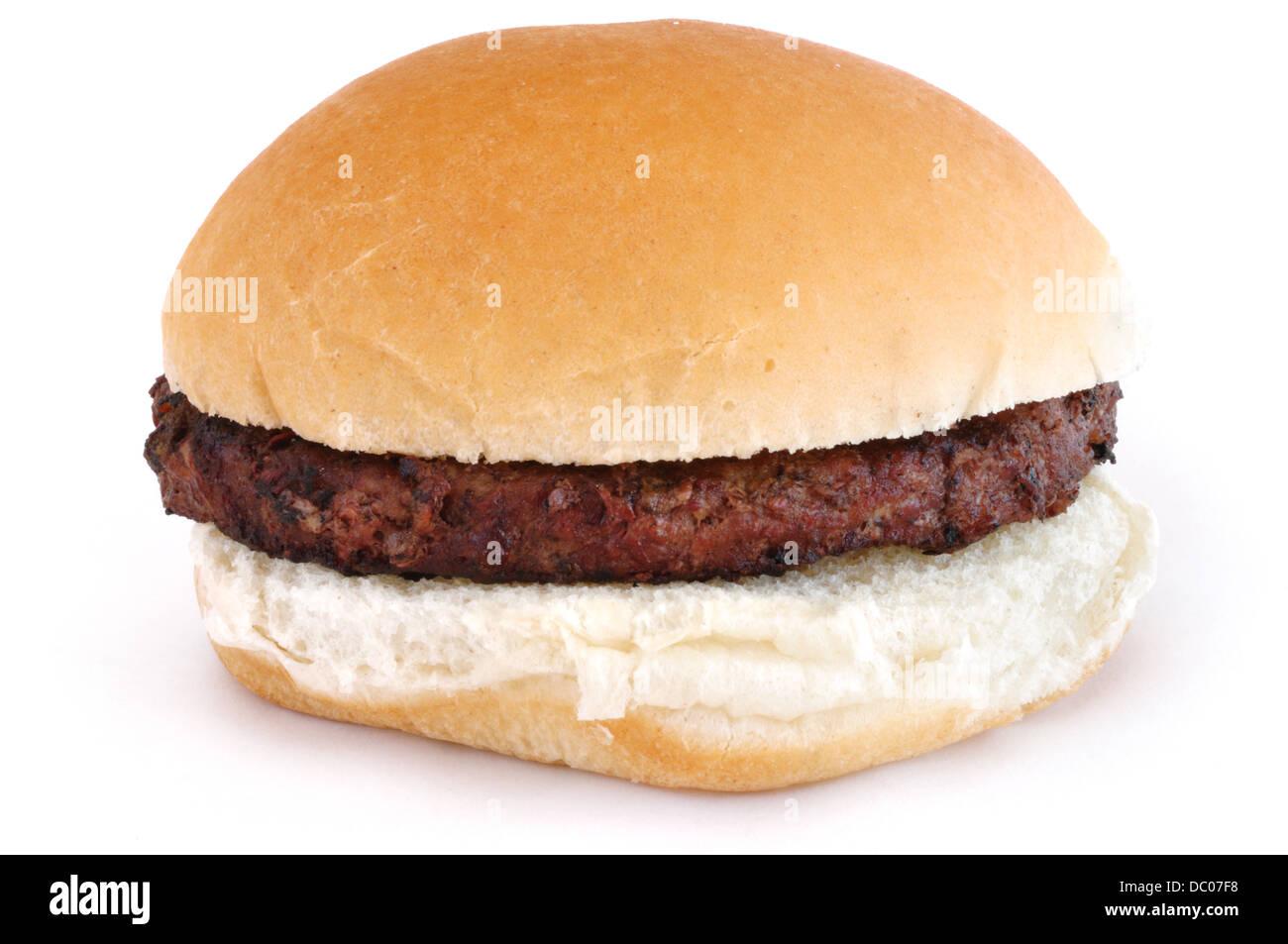 Hamburger auf weißem Hintergrund Stockbild