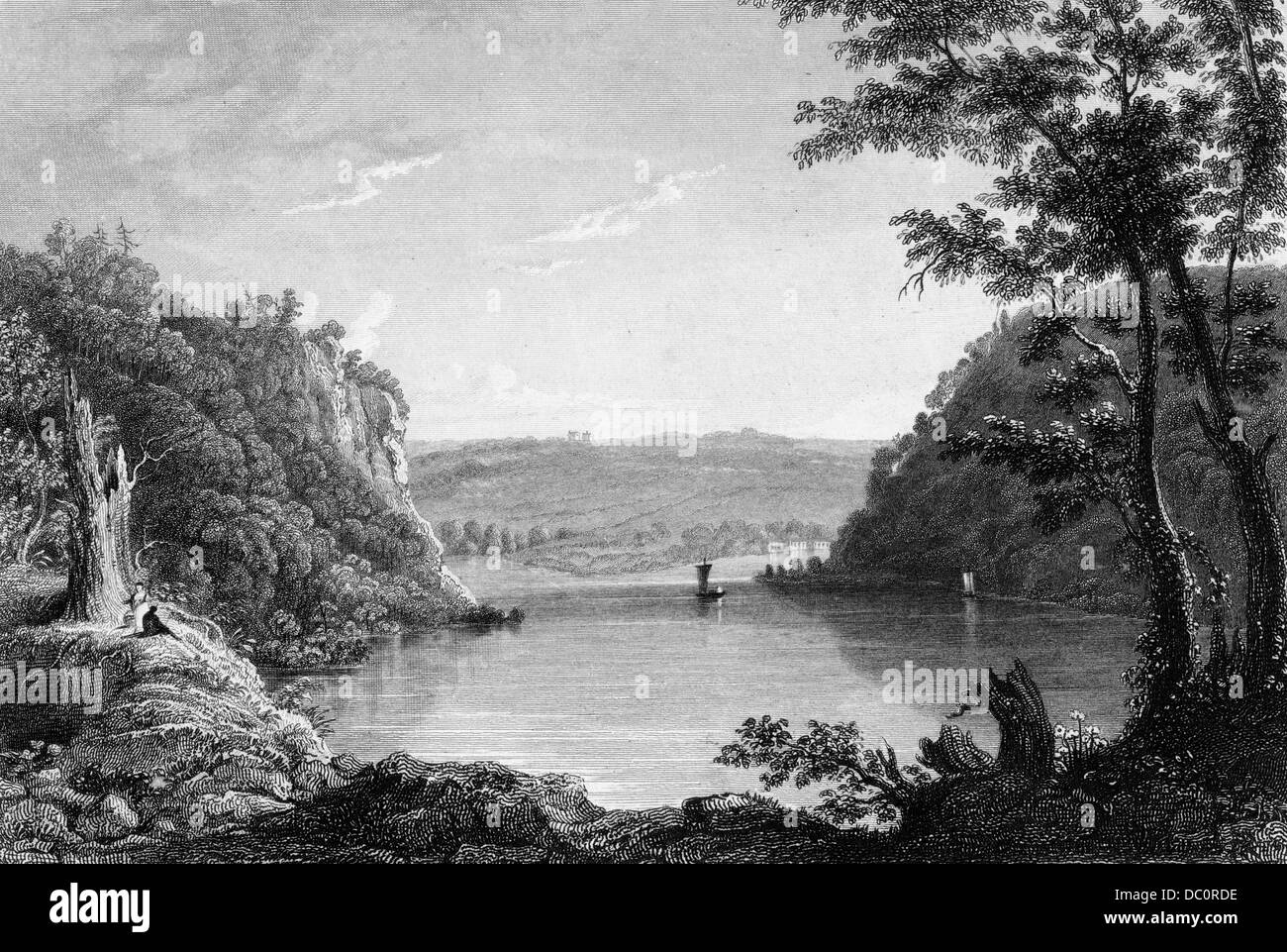 IDYLLISCHE SZENE VON HARPERS FERRY WEST VIRGINIA KREUZUNG DER SHENANDOAH & POTOMAC RIVERS Stockbild