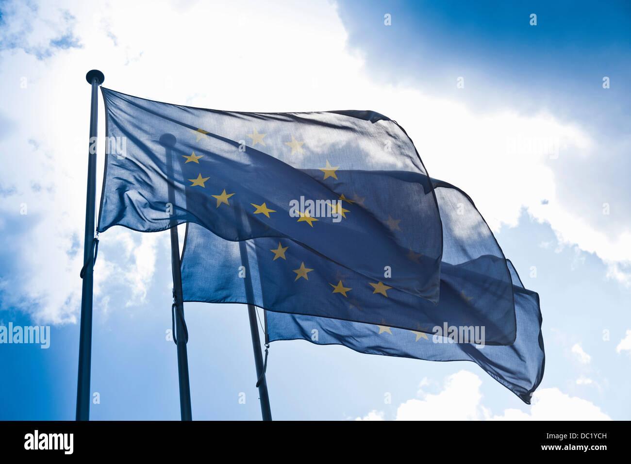 Europäischen Gemeinschaft Fahnen Stockbild