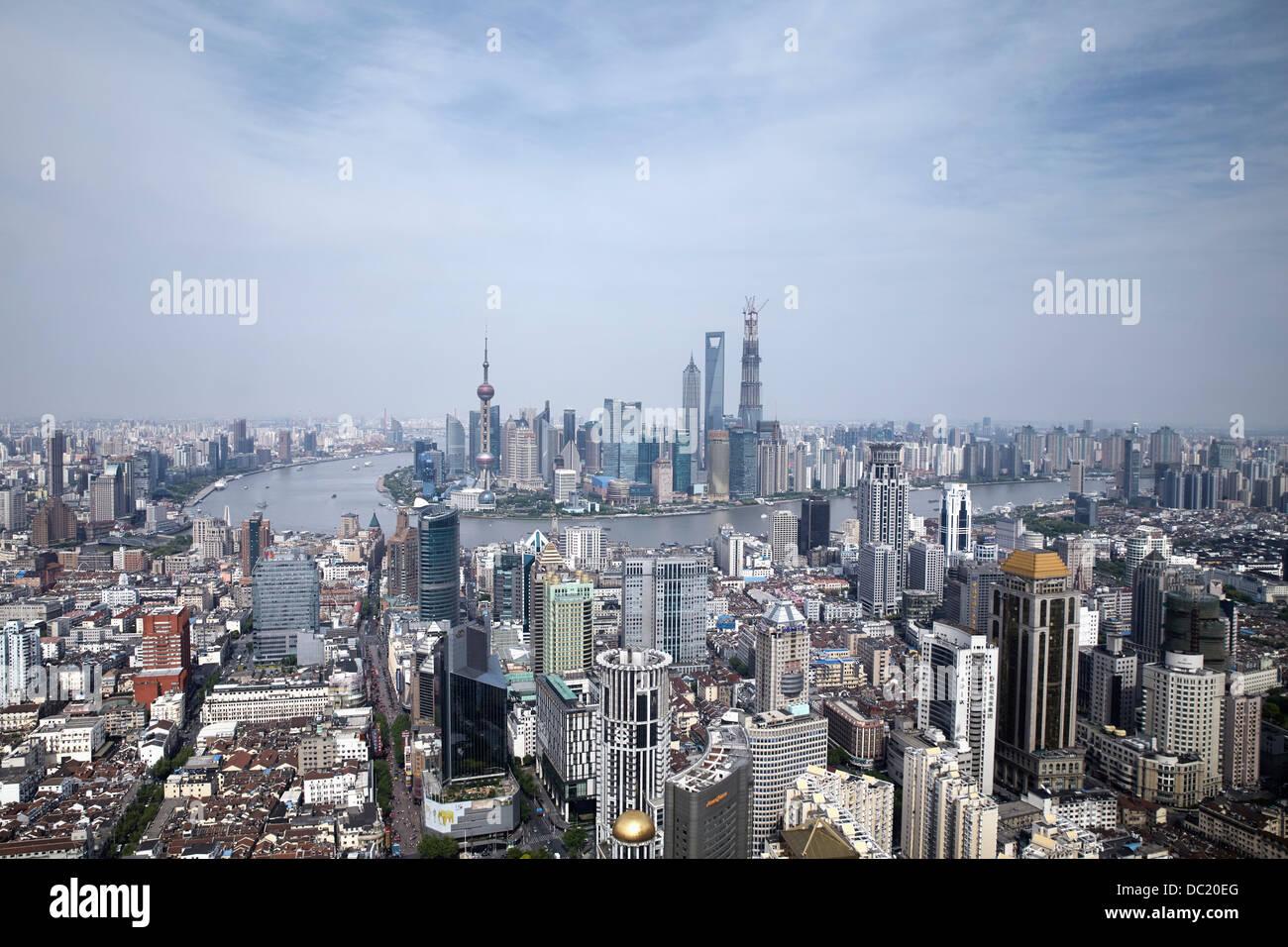 Stadtbild von Shanghai, China Stockfoto