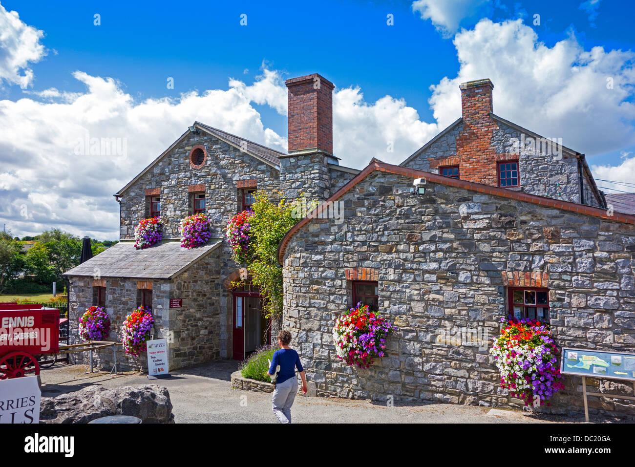 Skerries Mills Museum, County Dublin, Irland - restaurierten alten Mühle und Bäckerei Stockbild