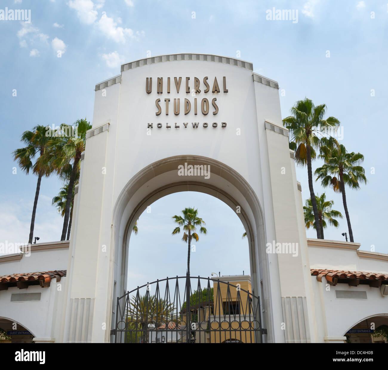 Universal Studios Eingang, Hollywood, CA Stockbild