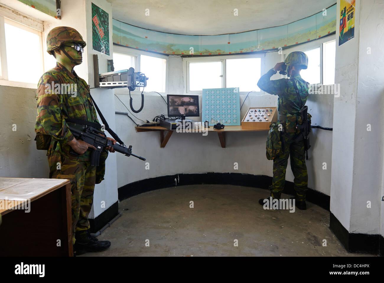 Eine Truppe von taiwanesischen Soldaten Praxis Kriegsspiele im ...