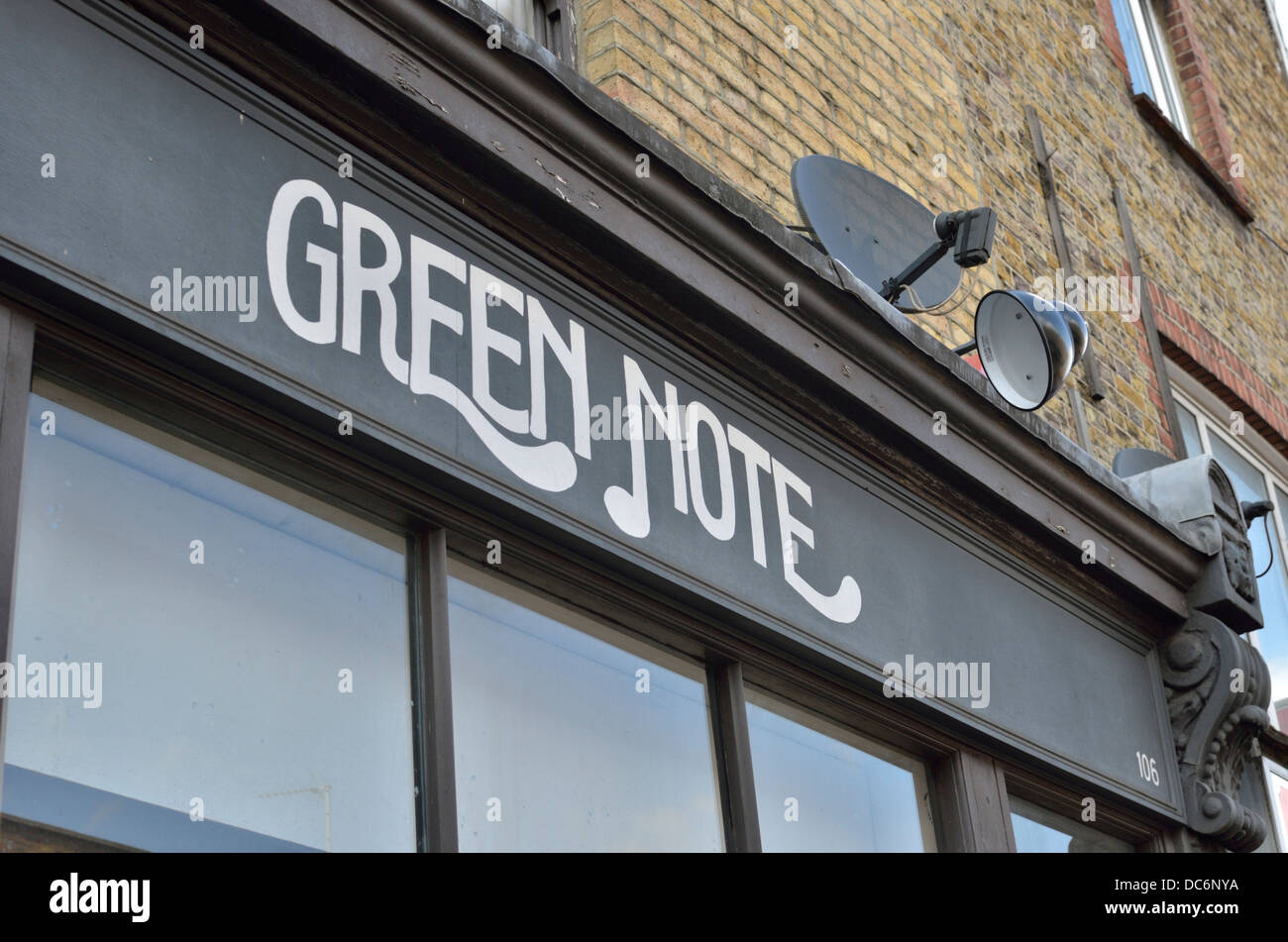 Die grüne Note live-Musik Veranstaltungsort in Camden Town, London, UK. Stockbild
