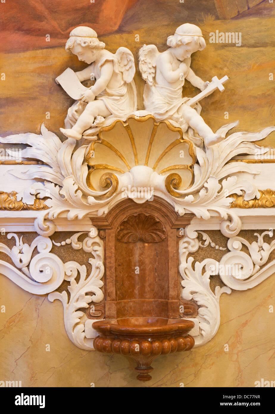 Wien Juli 27 Fresko Von Engeln Vom Vestibül Der Klosterkirche In