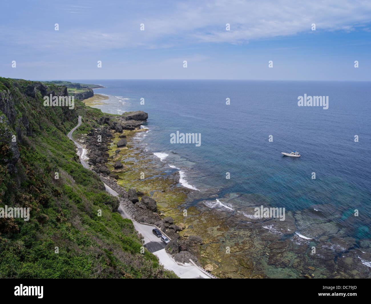 Wajee Sicht, D.h. Insel Okinawa, Japan Stockbild