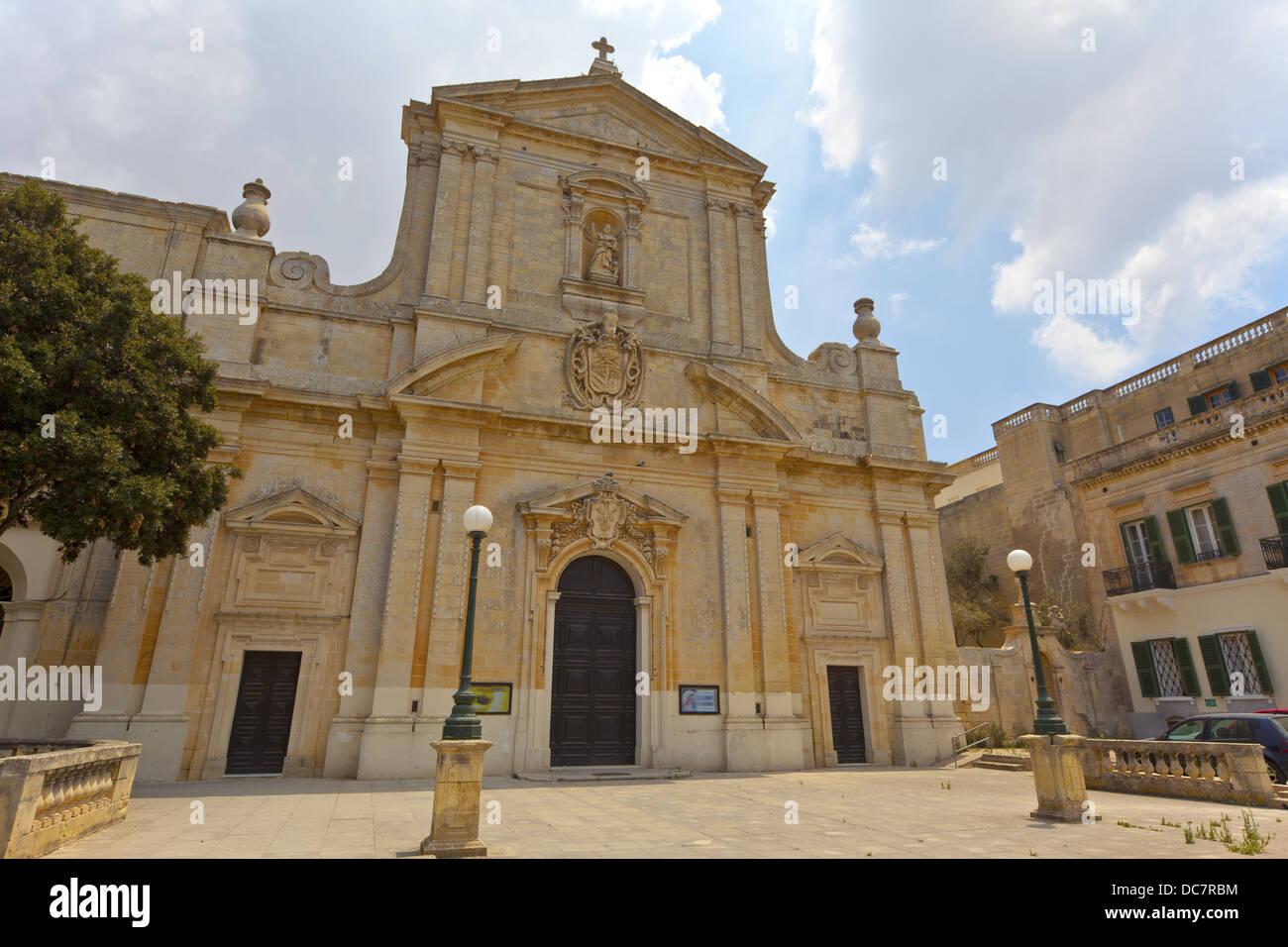 Historische katholische Kirche des Heiligen Dominikus in Rabat, Malta. Stockbild