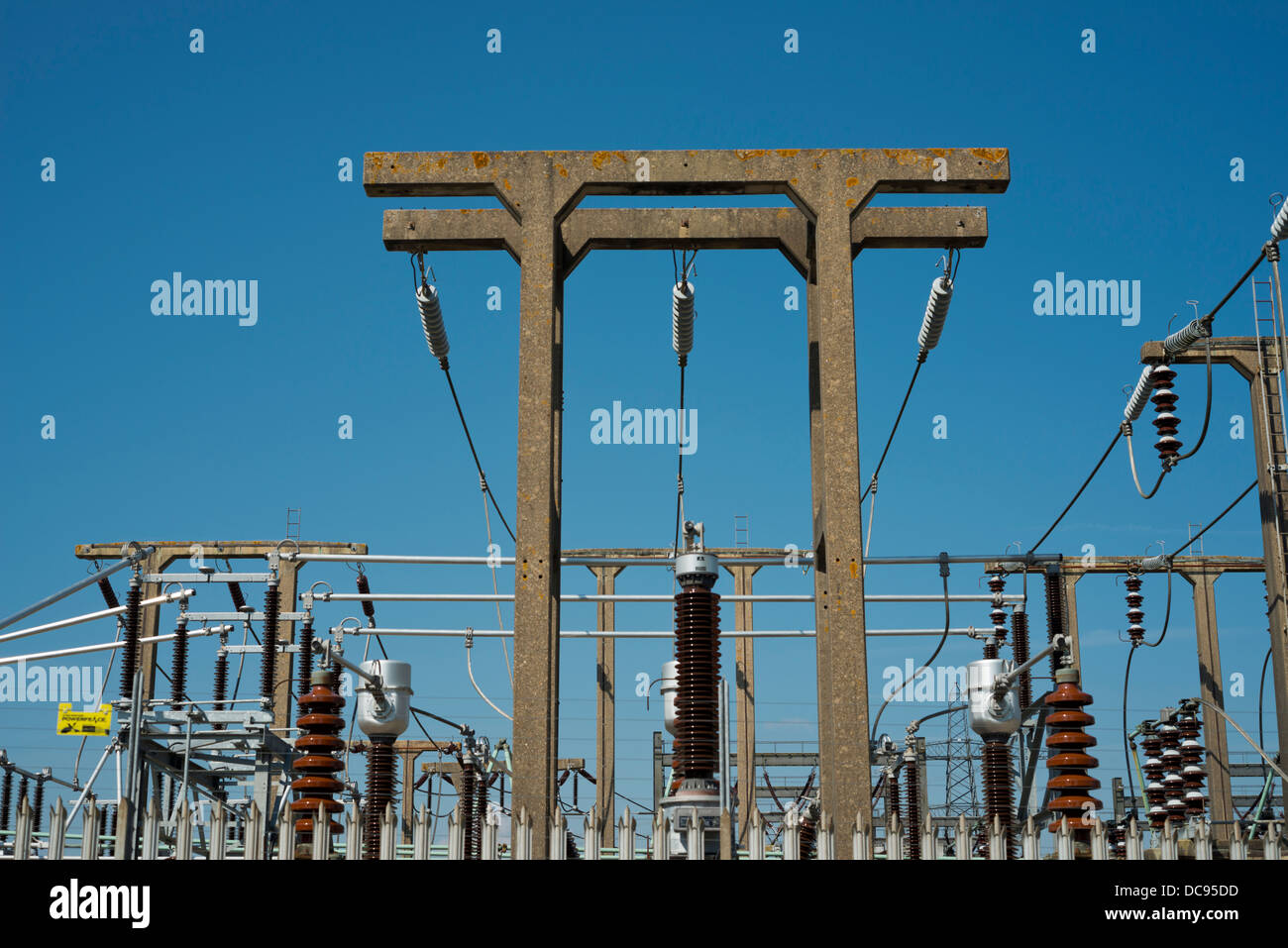 Bolney Hochspannung Umspannwerk. Stromnetz. Stockbild