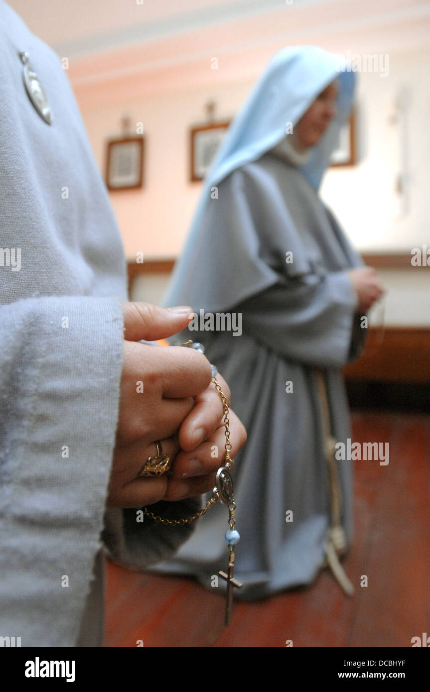 Die Unbeschuhten Karmeliten Kloster des Lanherne bei St.Mawgan, Cornwall. Die Anordnung der Franziskaner Nonnen Stockbild