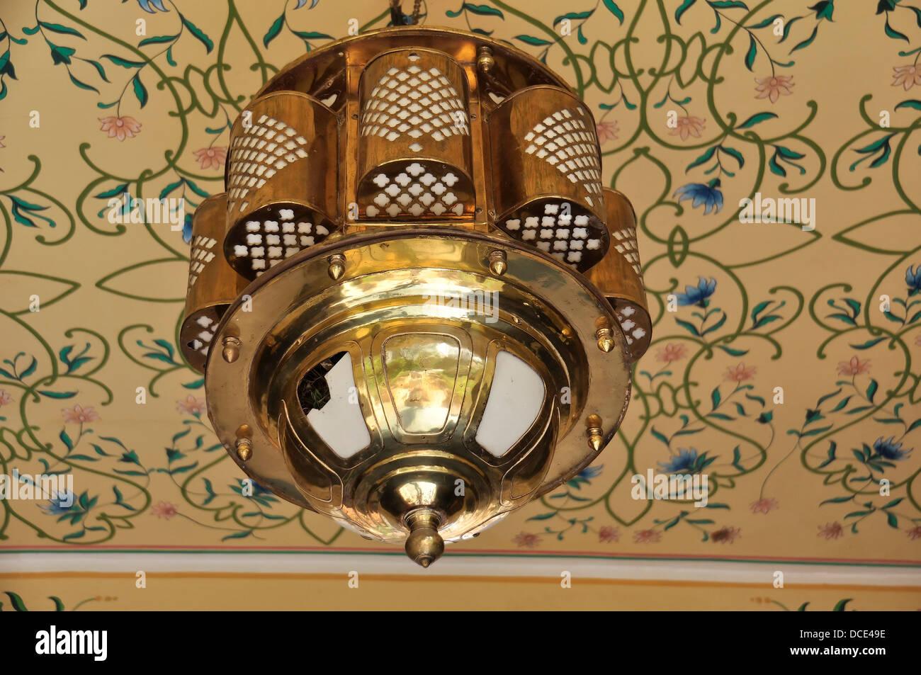 Lampe Kronleuchter Hangend Interieur Dekoration Messing Reich