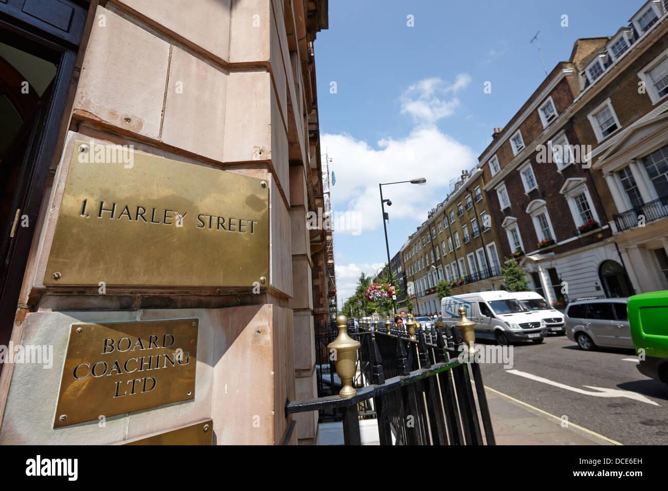 Harley Street London England UK Stockbild