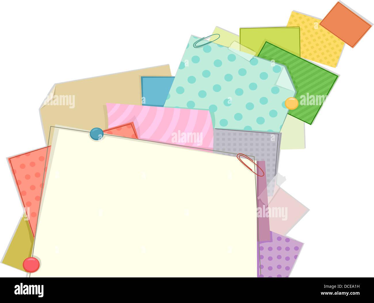 Hintergrund Illustration von gemusterten Papier Rahmen Stockfoto ...