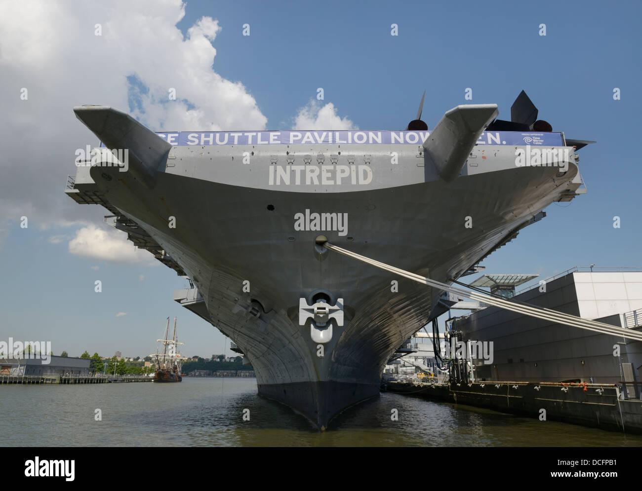 USS Intrepid Luftfahrtunternehmen Handwerk.  Intrepid Sea, Air und Space Museum, NY Stockfoto