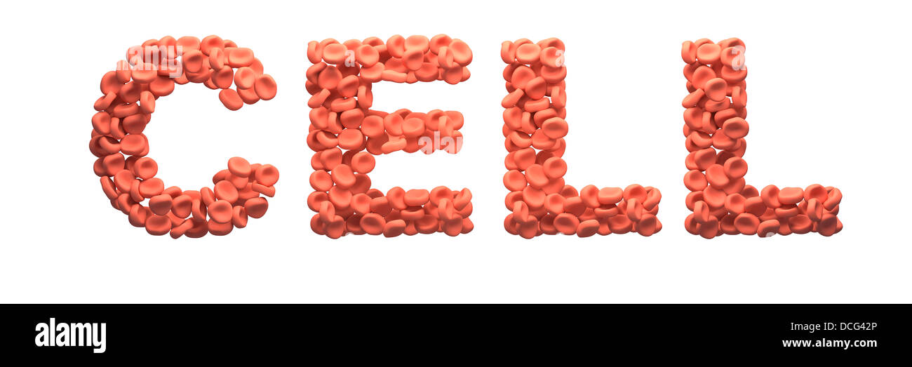 Konzeptbild von roten Blutkörperchen. Stockbild