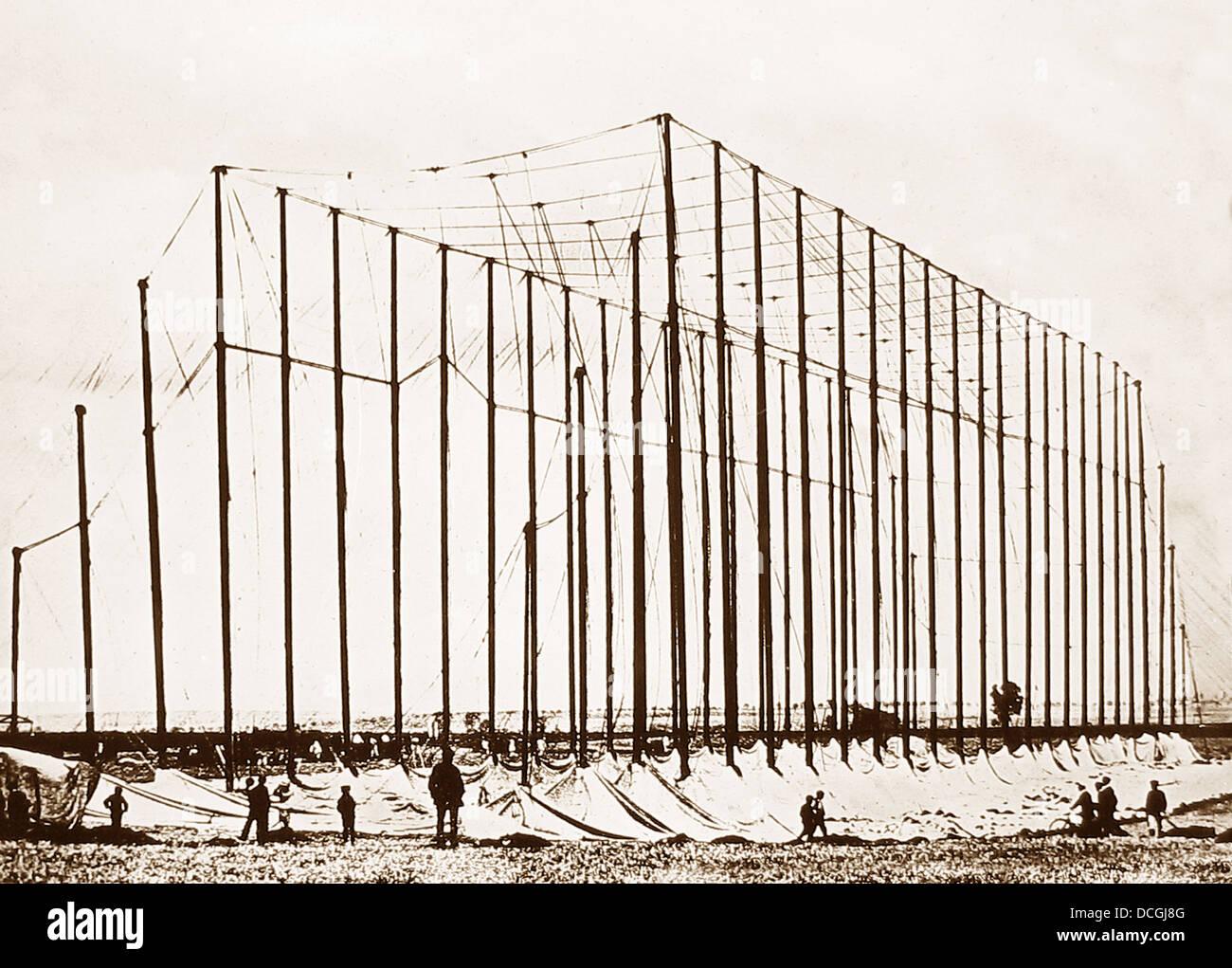 Temporäre Aufhänger für Zeppelin Luftschiff während WW1 Stockbild