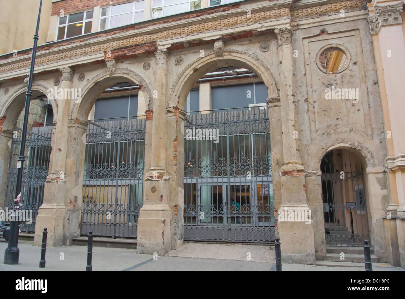 Ehemalige Landesbank Gesellschaft Gebäude Fassade Mazowiecka Straße Warschau Polen Europa Stockbild