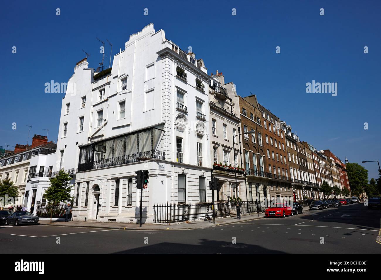 Gesamtansicht der Harley Street London England UK Stockbild