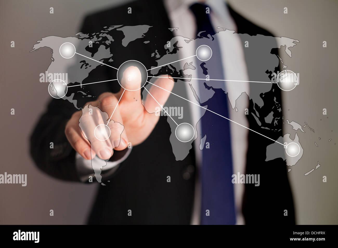 einfache Business management Stockbild