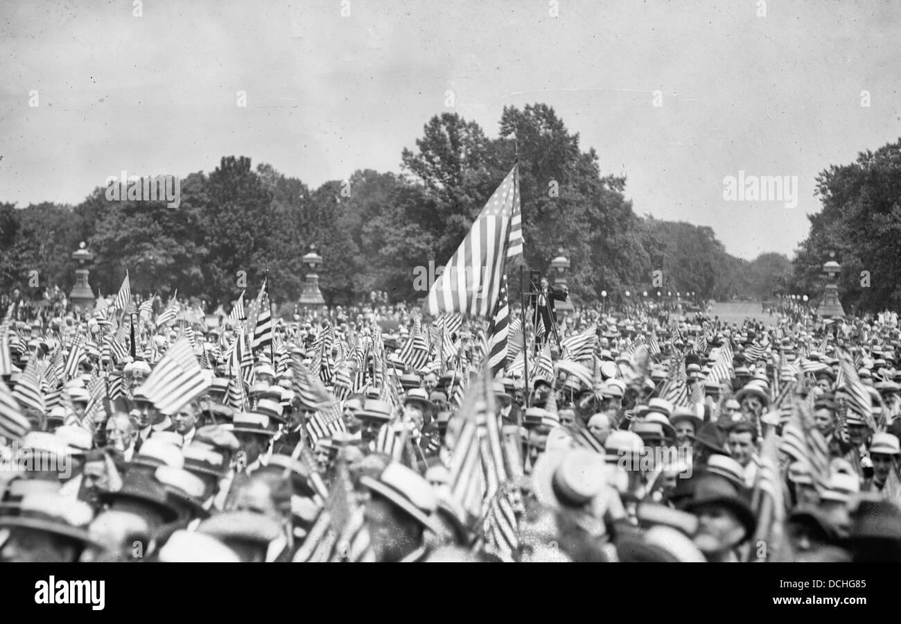 Amerikanische. Föderation der Arbeit, Verbot Demonstration, 14. Juni 1919 Stockbild