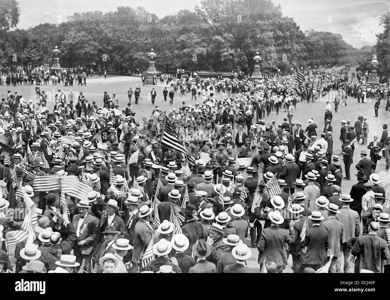 American Federation of Labor, Verbot Demonstration, 14. Juni 1919 Stockbild