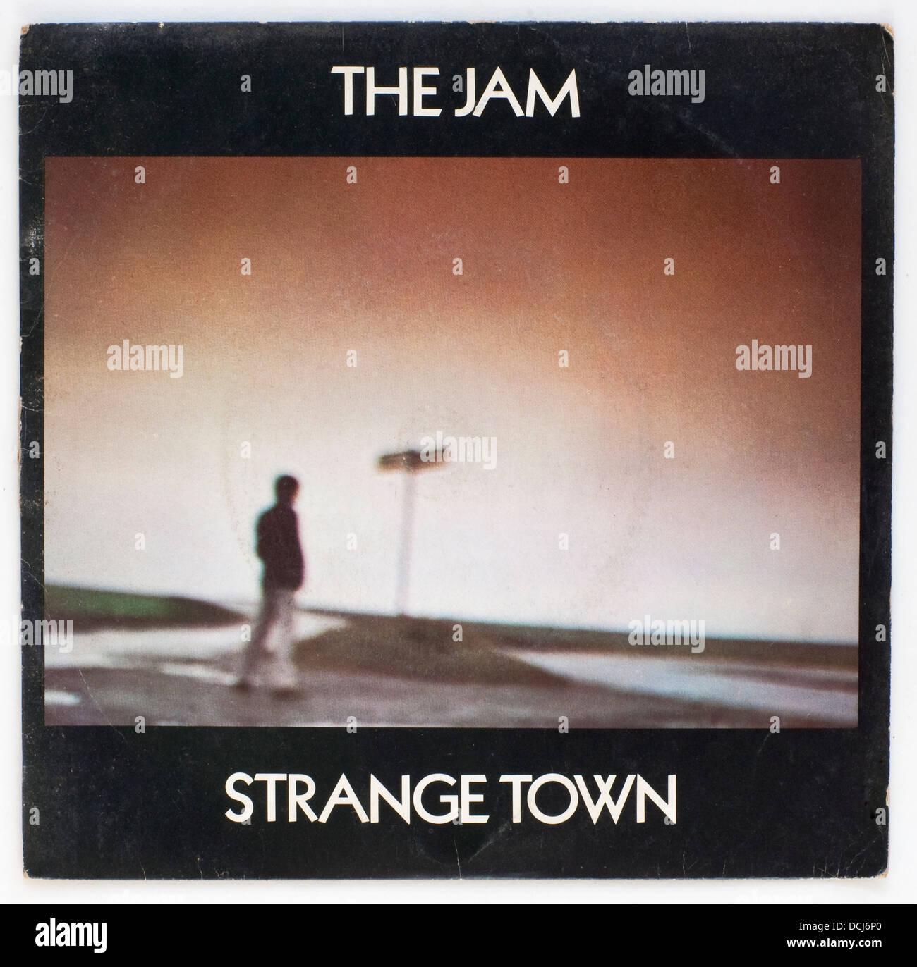 Die Jam - fremden Stadt, 1979 Bild Abdeckung single auf Polydor Stockfoto