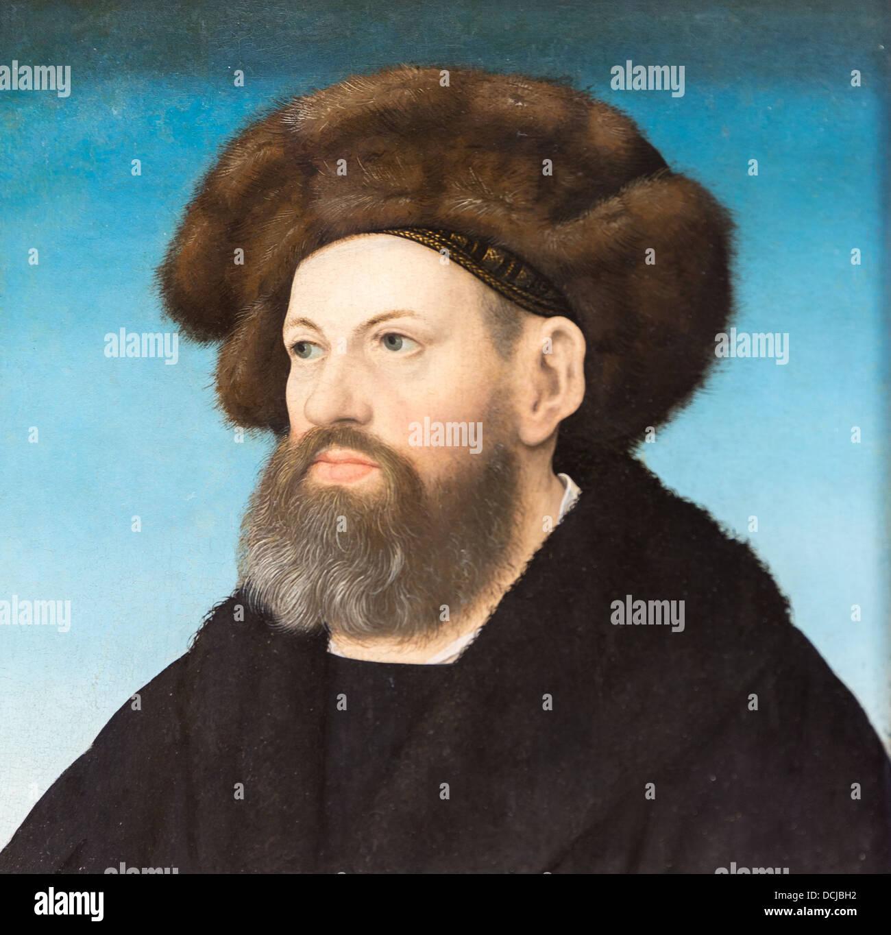16. Jahrhundert - Sebastien Andorfer, 1517 - Hans Maler Öl auf Holz Stockbild
