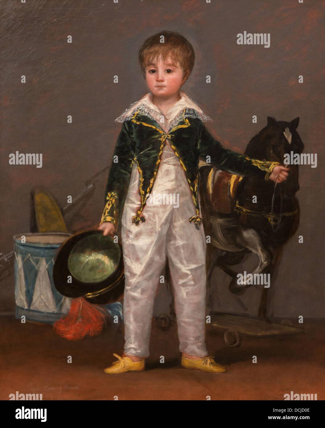 19. Jahrhundert - Jose Costa y Bonells, 1810 - Goya Philippe Sauvan-Magnet / aktive Museum Stockbild