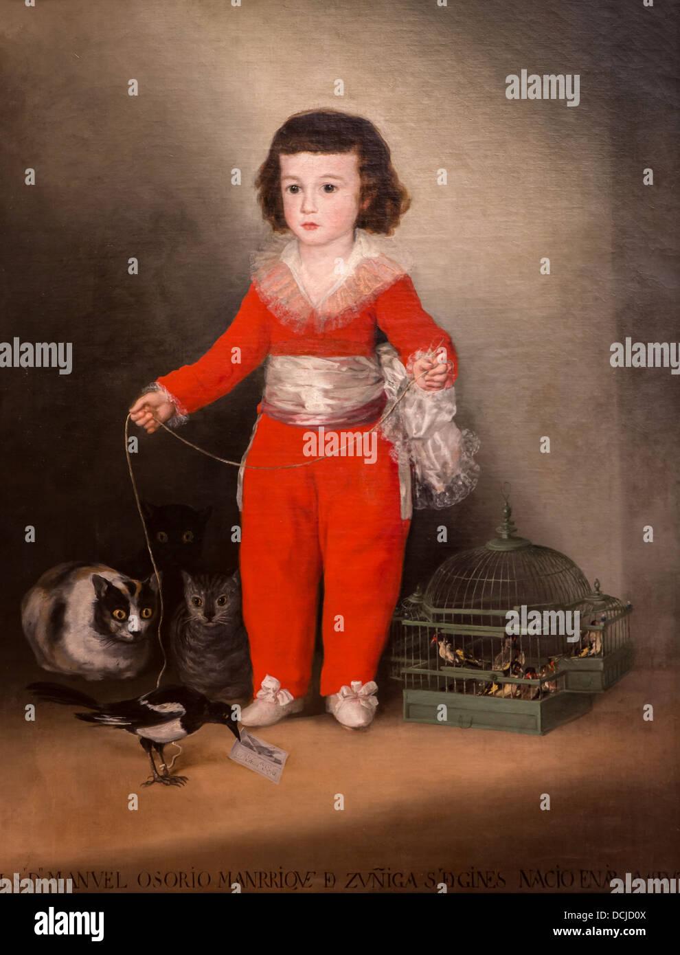 18. Jahrhundert - Manuel Osorto Manrique von Zuniga, 1787 - Goya Philippe Sauvan-Magnet / aktive Museum Stockbild