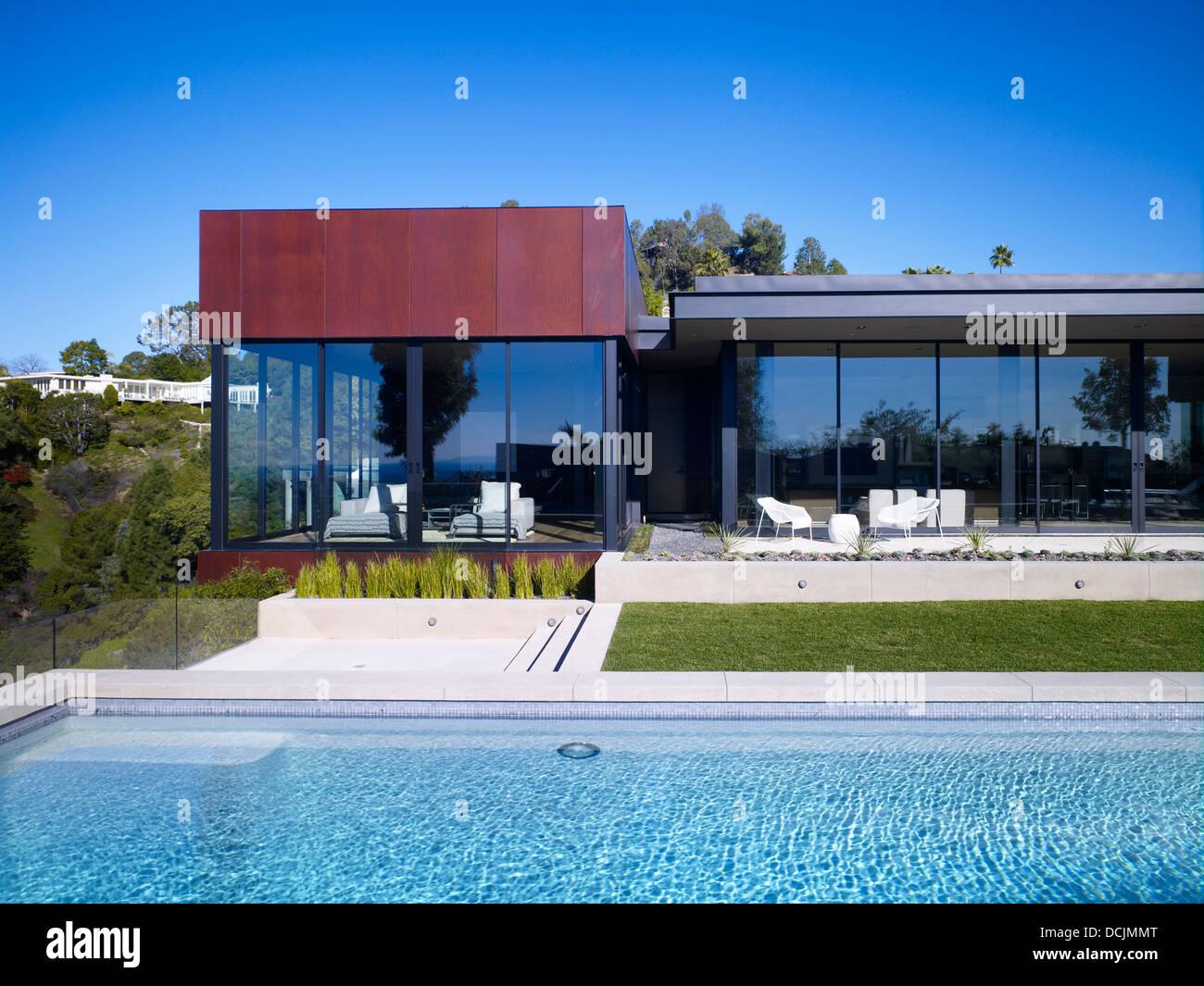 Swimmingpool außen, Nachtigall 2 Haus, Hollywood Hills, Hollywood ...