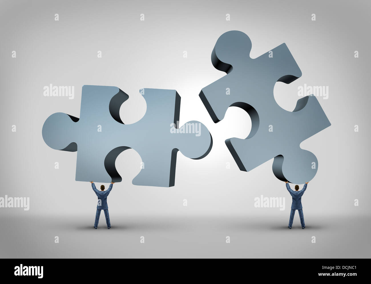 Business Teamwork Concept Jigsaw Puzzle Stockfotos & Business ...