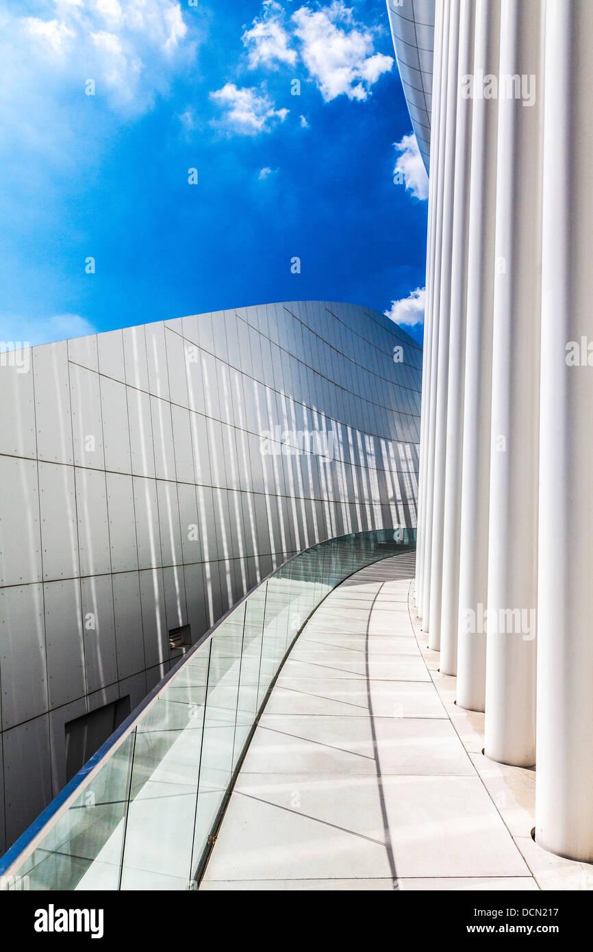 Bestandteil der modernen Konzertsaal der Philharmonie in Luxemburg-Stadt. Stockbild