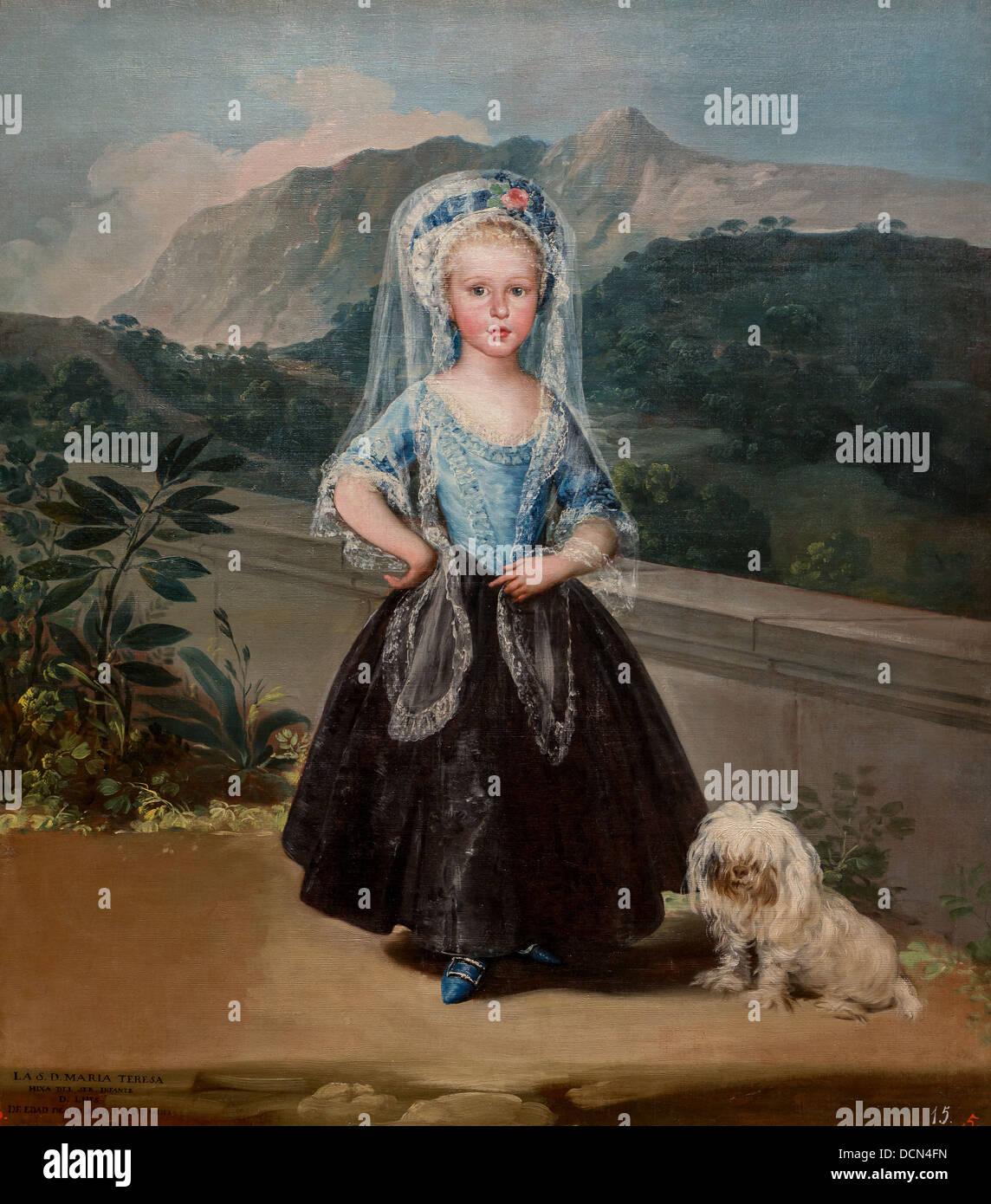 18. Jahrhundert - Maria Teresa de Borbón y Vallabriga, 1783 - Francisco de Goya Philippe Sauvan-Magnet / aktive Stockbild