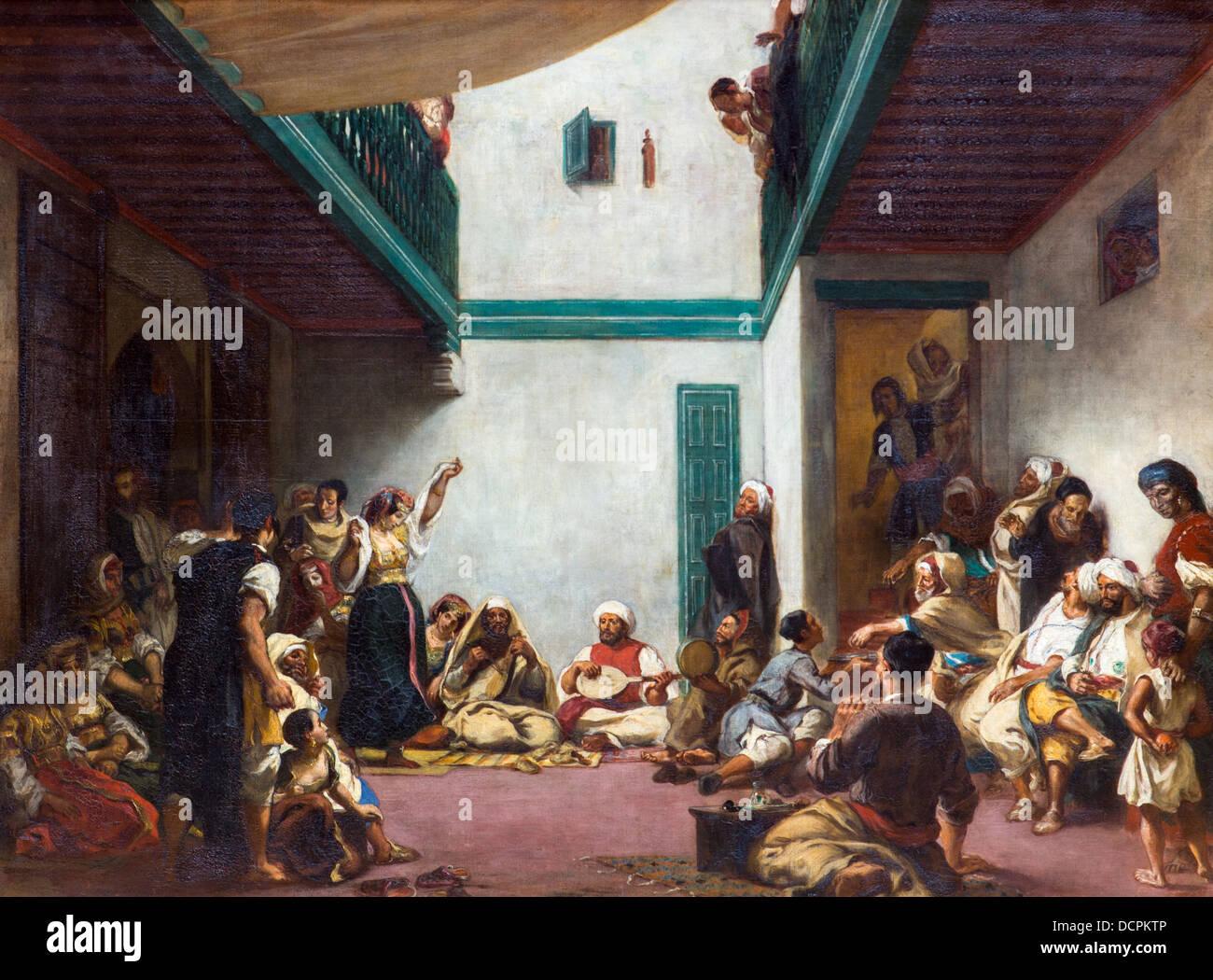 19. Jahrhundert - jüdische Hochzeit in Marokko, 1839 - Eugène Delacroix Philippe Sauvan-Magnet / aktive Stockbild