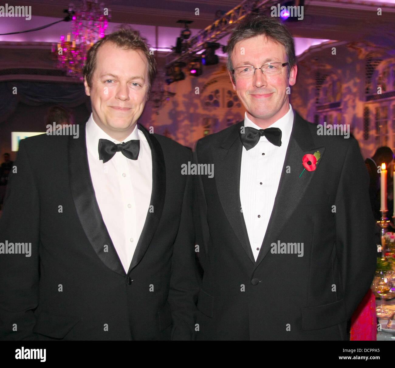 Tom Parker Bowles und Shane Connolly Kunst und Essen Gala-Dinner im Savoy Hotel in London, England - 07.11.11 Stockfoto