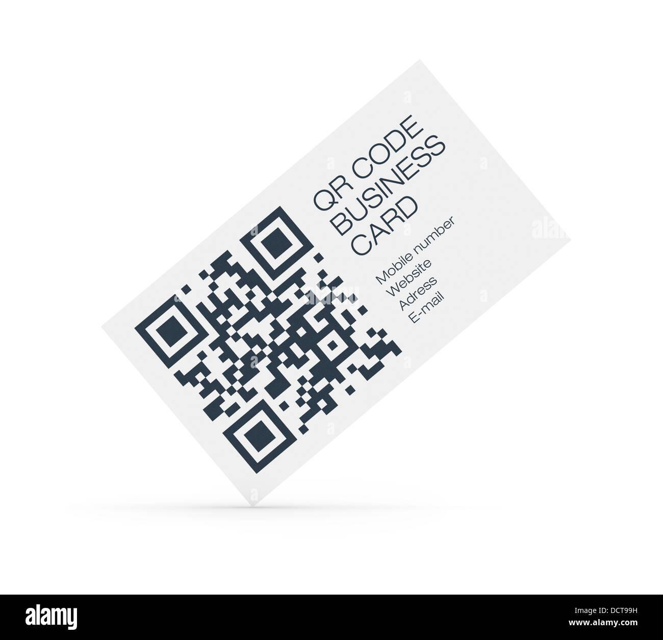 Qr Code Visitenkarten Konzept Stockfoto Bild 59541149 Alamy