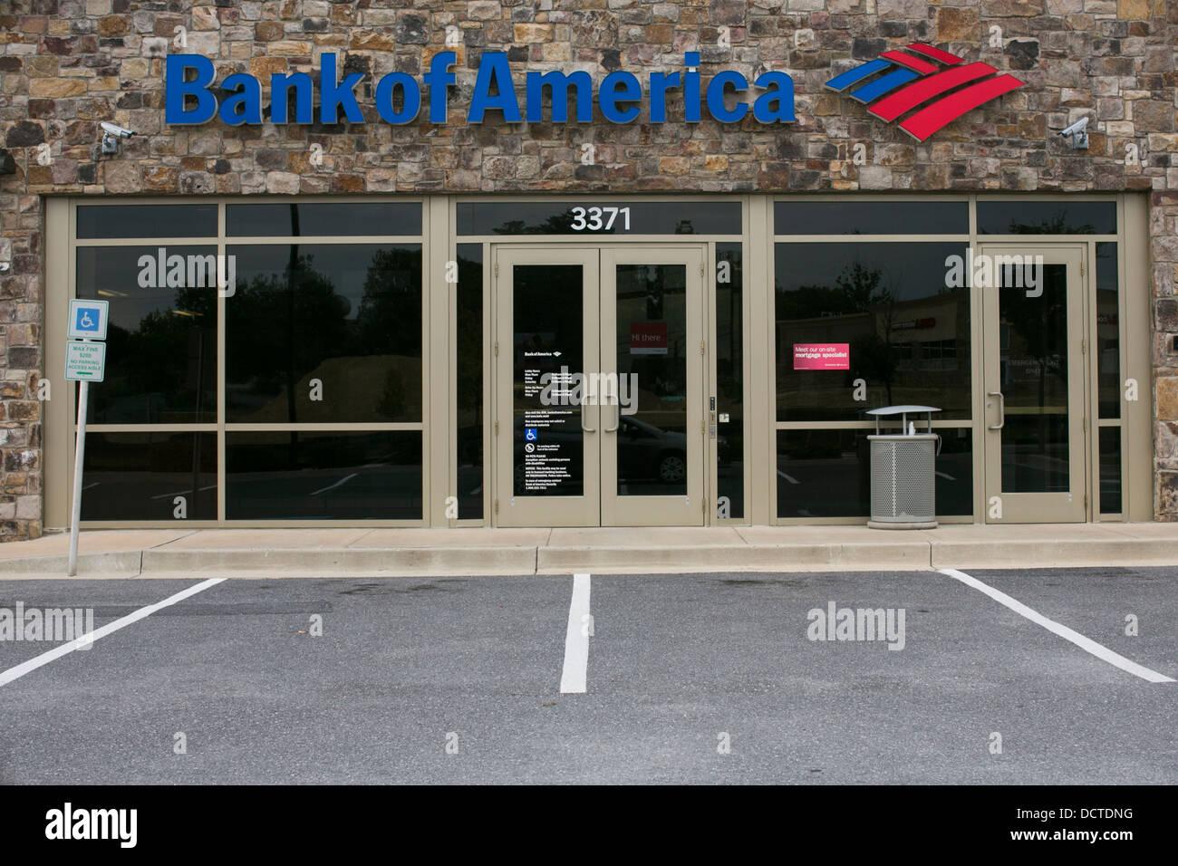 Eine Filiale der Bank Of America. Stockbild