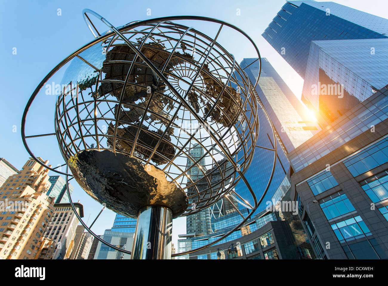 New York City, Columbus Circle Stockbild