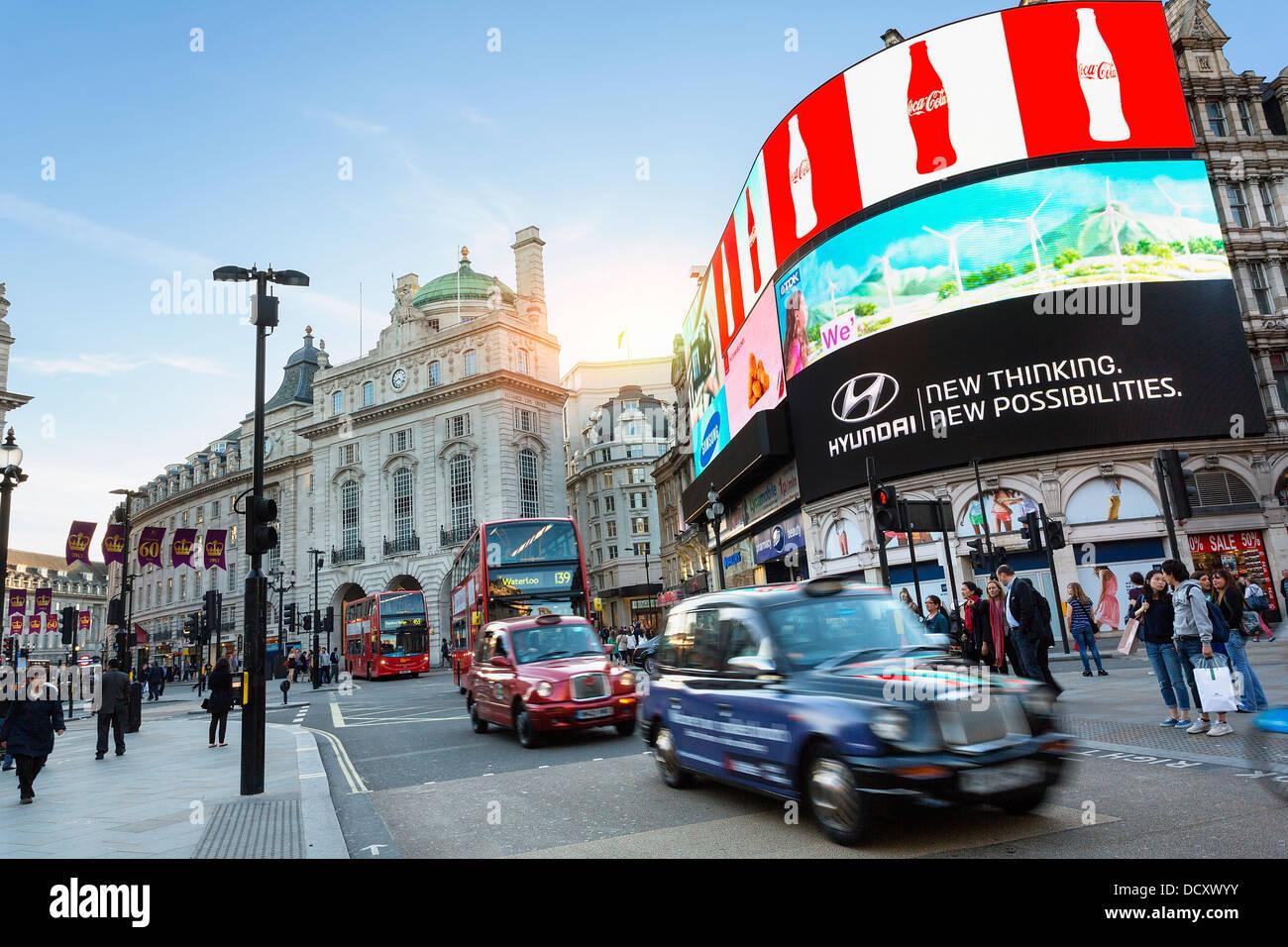 London, Piccadilly Circus Stockbild