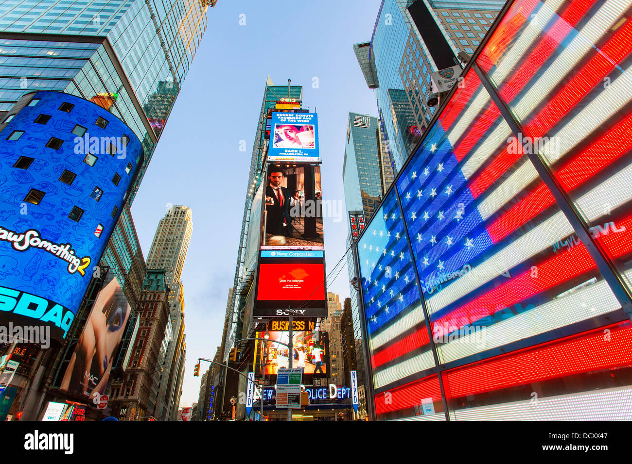 New York City Times square Stockbild