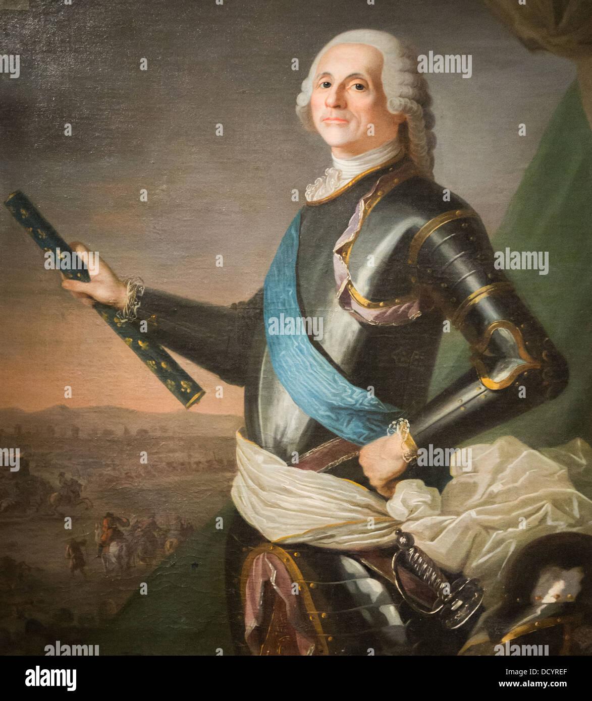 Louis-François-Armand du Plessis, Herzog de Richelieu - anonym - Musée de l'Armée - Hôtel Stockbild
