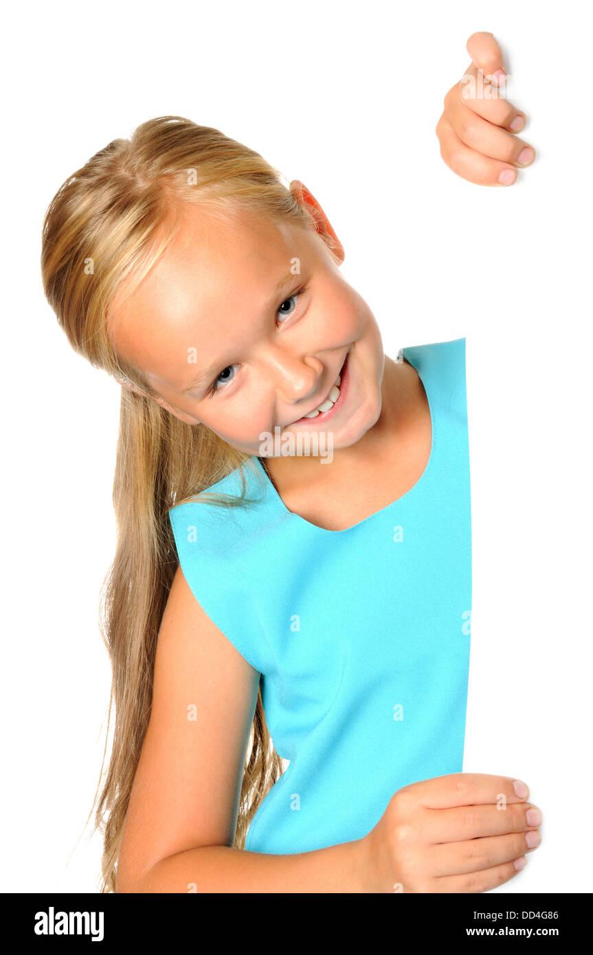 Glücklich lächelnde Mädchen Stockbild