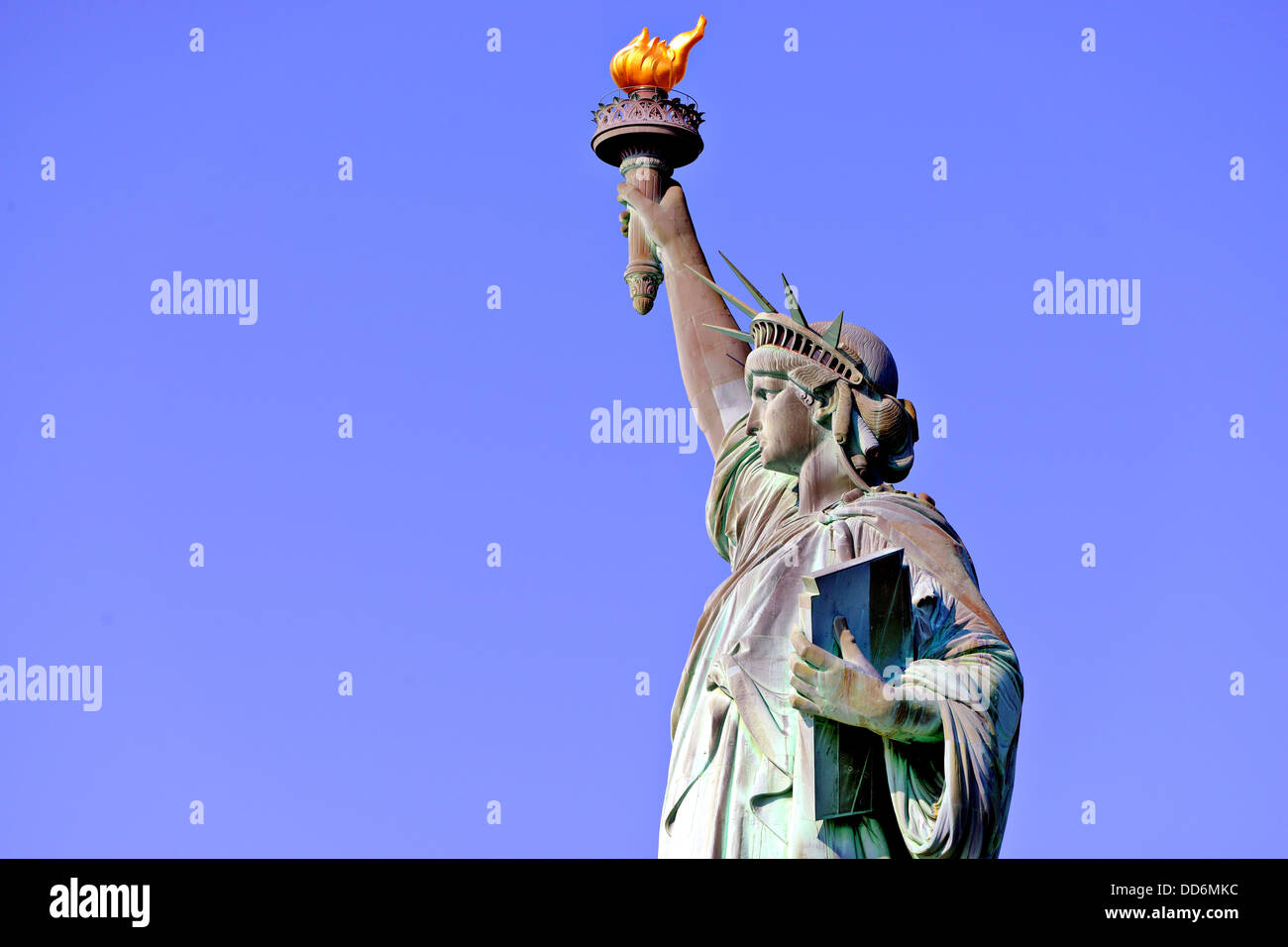 Freiheitsstatue in New York City. Stockbild