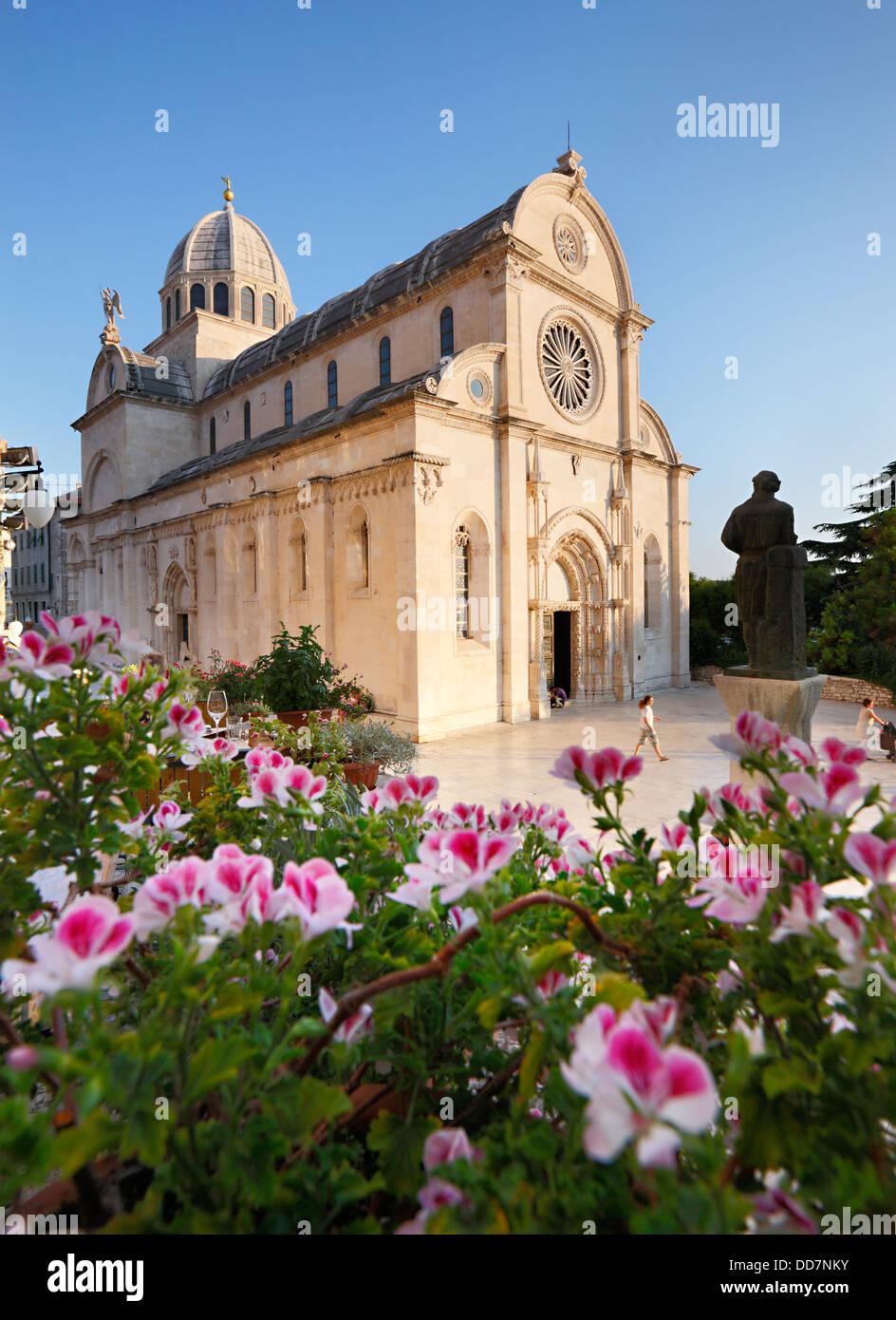 Sibenik Kathedrale des Hl. Jakobus - Kroatien Stockbild