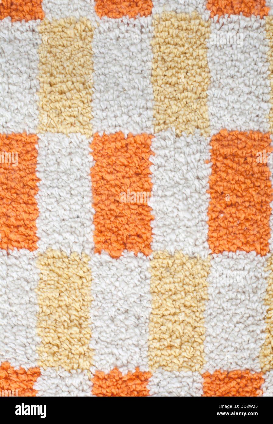 Nahaufnahme von bunten Teppich Textur Stockbild