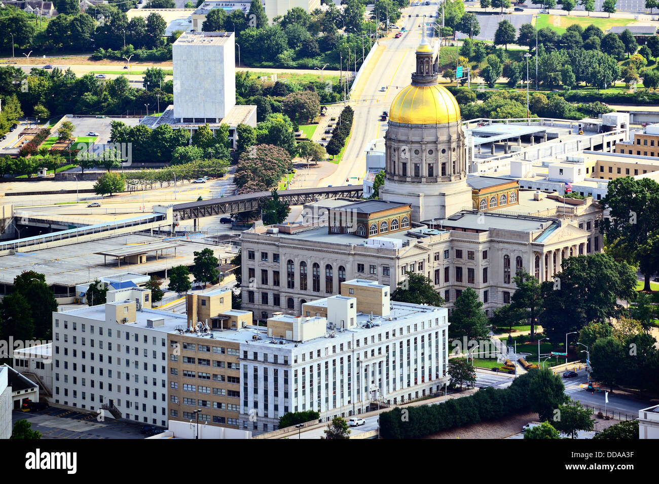 Georgia State Capitol Building in Atlanta, Georgia, USA. Stockbild