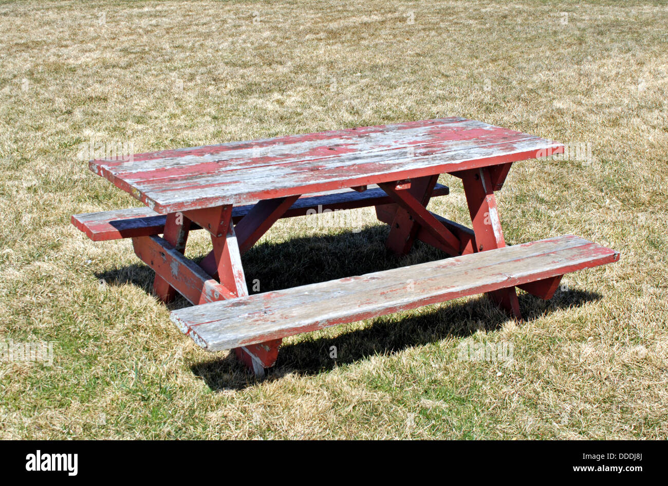 Bench Table Garden Wooden Country Furniture Bench Stockfotos & Bench ...
