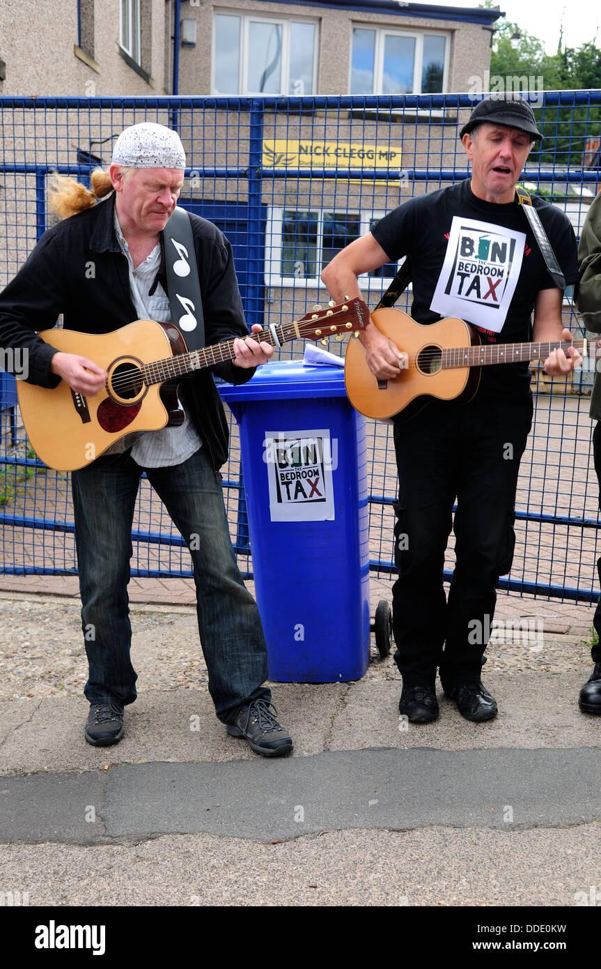 Bürger-Smart, Glasgow politischen Protest Interpreten. Stockbild